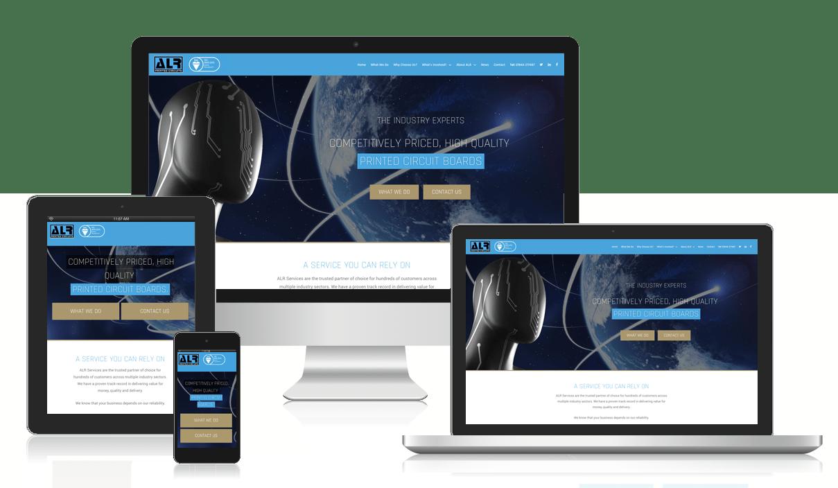 ALR PCB website design - Red Giraffe Marketing