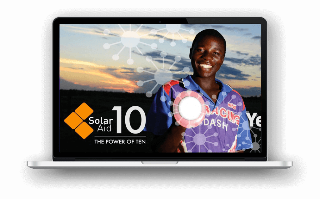 SolarAid charity website design