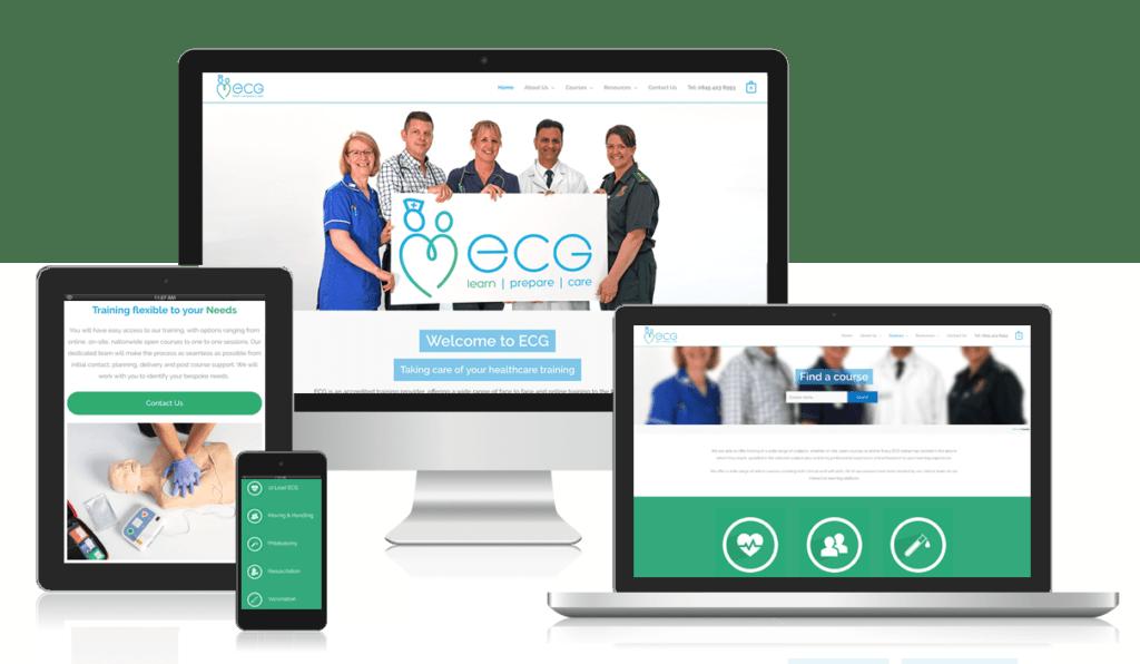 ecg mobile website design milton keynes