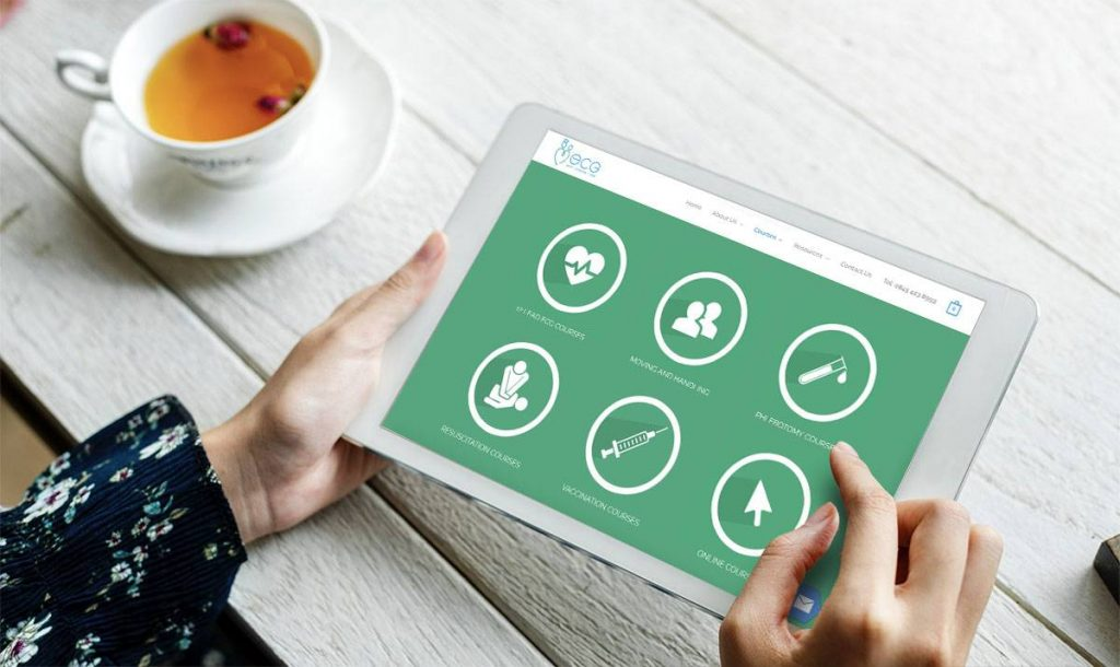 ecg web app website design milton keynes